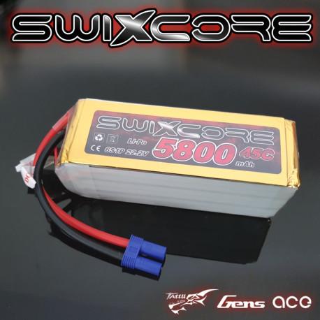 SWIXCORE - 5800 mAh 6S 22.2V 45C Lipo Pack